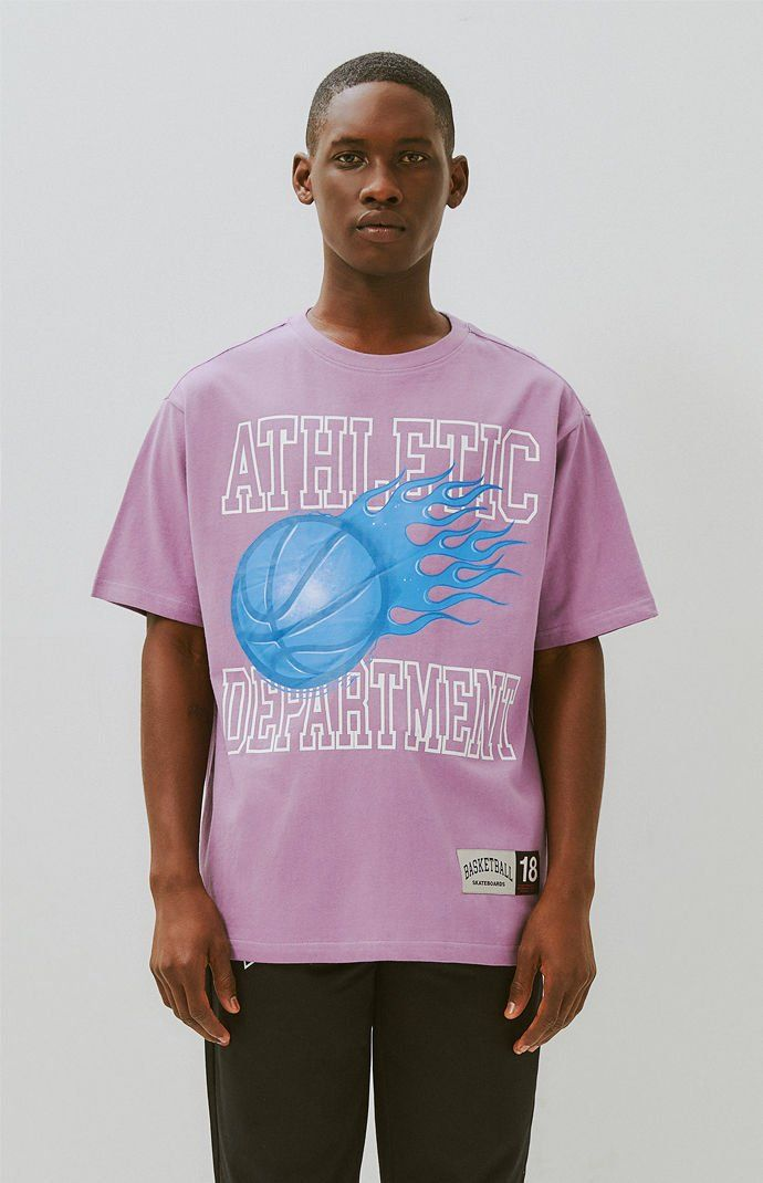 Basketball Skateboards Athletic T Shirt Colorful Tee Athletic Solid Color Tee