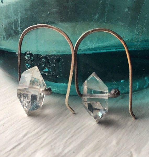 Herkimer Diamond Earrings Sterling Silver by daniellerosebean