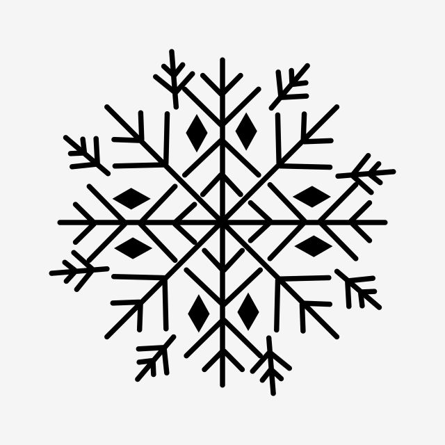 Snowflake Clipart Png Vector Element Snowflake Clipart Black And White Snowflake Winter Png And Vector With Transparent Background For Free Download Snowflake Clipart Graphic Design Background Templates Christmas Vectors
