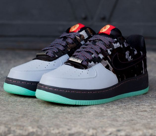 """Nike Air Force 1 Low """"Year of the Horse"""" – Wolf Grey / Black"""