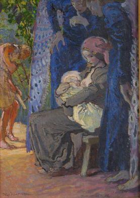 Józef Mehoffer - Matka Boska karmiąca, 1913