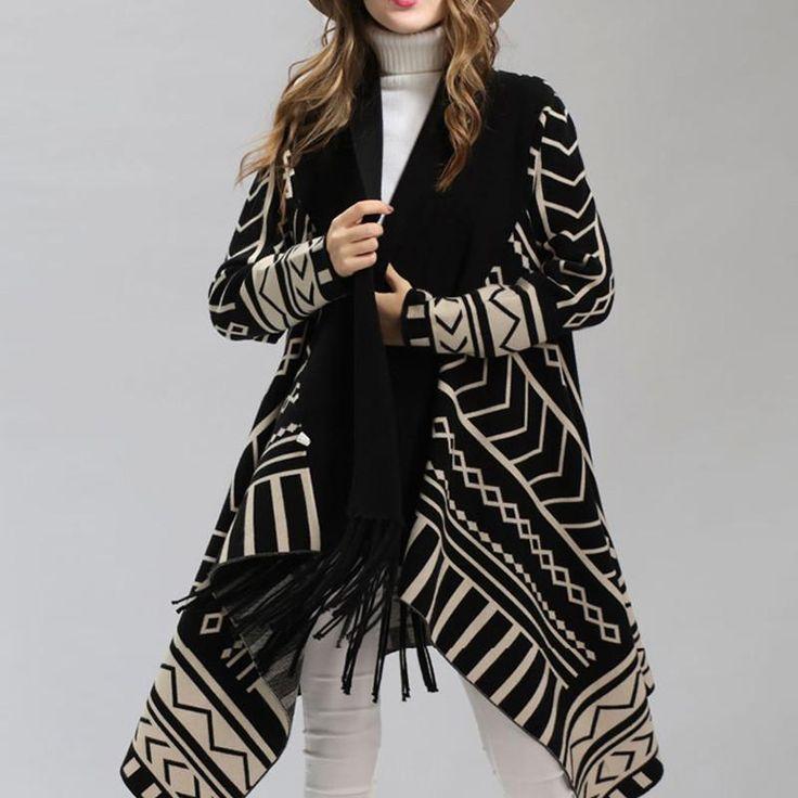 Tribal Fringed Cape Coat