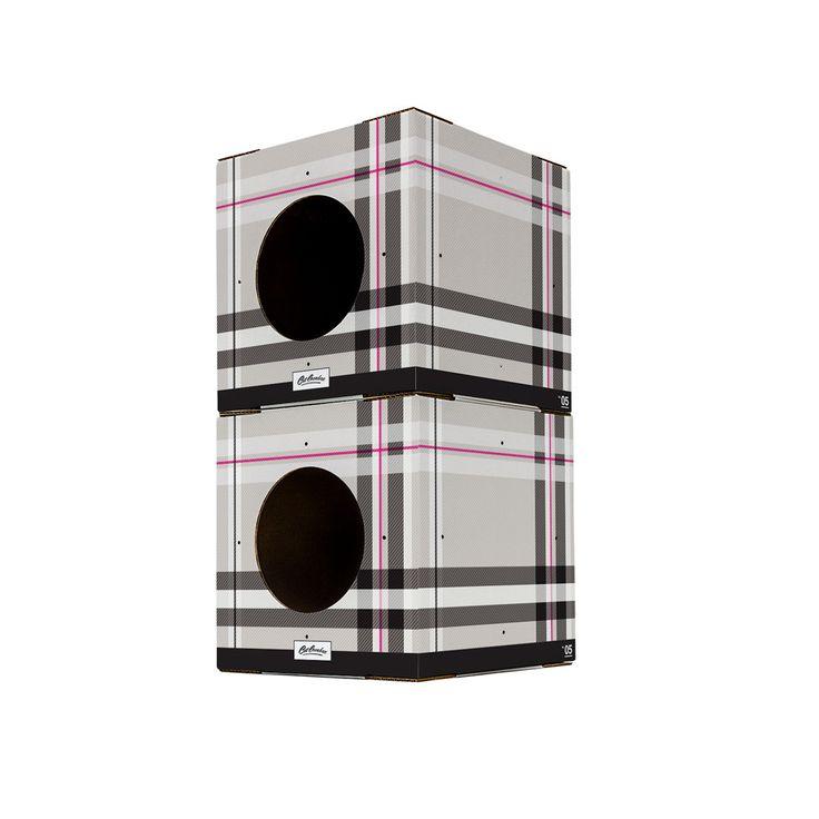 2 Pack Plaid Print Cat Box