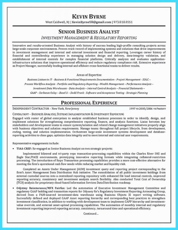 20 Agile Business Analyst Resume in 2020 Business resume