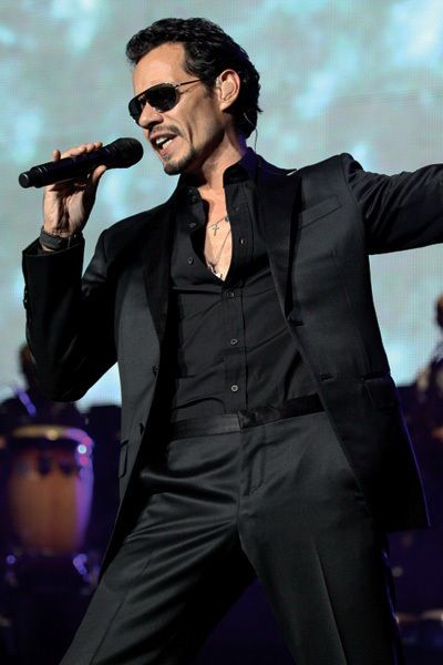 Marc Anthony- American singer from NY, from Puerto Rican parents . Salsa Music Icon. Small frame, HUGE voice.