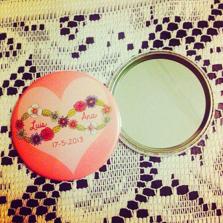 Wedding pocket mirror by Susie creativa