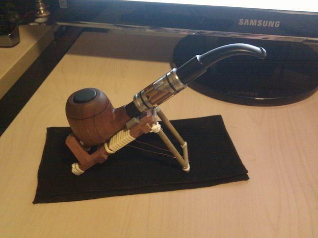 Wooden Pipe Vape Electronic Cigarette Kit E Pipe Kamry K1000 Plus