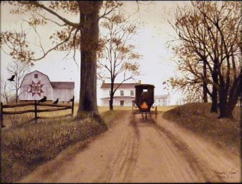 New Billy Jacobs Farm Quilt Barn Amish Horse Buggy Picture