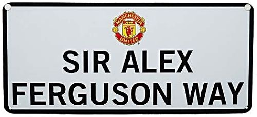 Manchester United Large Street Sign SIR ALEX FERGUSON