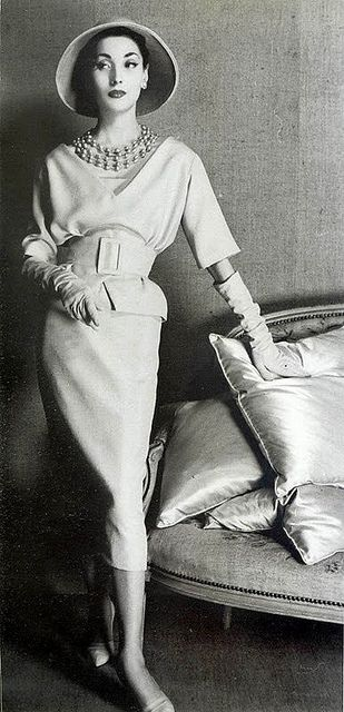 Dior 1957. Wish ladies still could dress like this sometimes.
