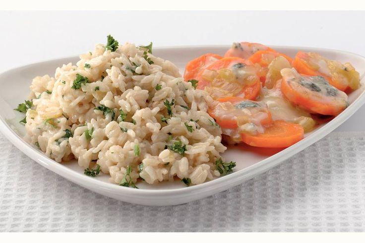 Kijk wat een lekker recept ik heb gevonden op Allerhande! Romige risotto met wortel en gorgonzola