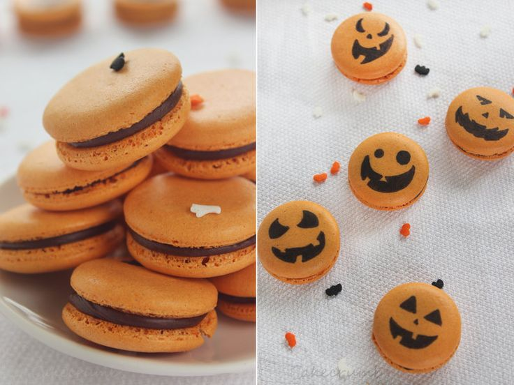 Spiced Pumpkin Macarons by cakecrumbs