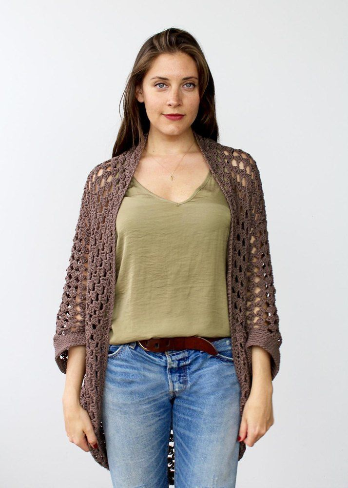 Whether you're cozying up on the couch or hitting up the local theater, the Movie Night Cocoon Cardi is the perfect addition to your ensemble. Like the hug of a blanket, this shrug-style cardigan comfortably drapes over your shoulders for that extra bit of warmth. Work it in a lightweight cotton for summer nights or a chunkier wool for cooler temperatures - this same pattern can be used for multiple weights!This is an easy level crochet pattern and the techniques involved are double croc...
