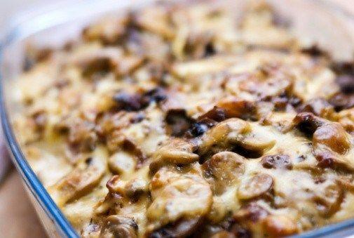 Грибы, запеченные с сыром (Mushroom Bouyiourdi)