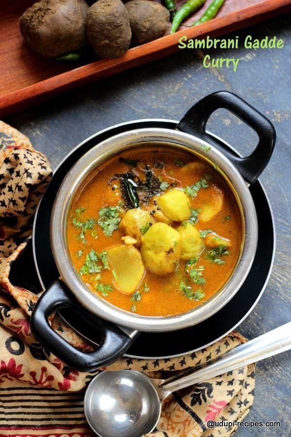 Sambrani Gadde Curry | Chinese Potato Curry | Recipe | Veg : Sambar