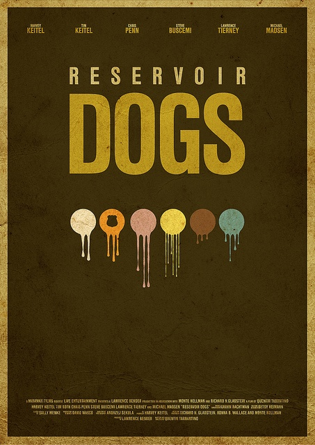 #RESERVOIR DOGS MOVIE POSTER  Like,Repin,Share, Thanks!