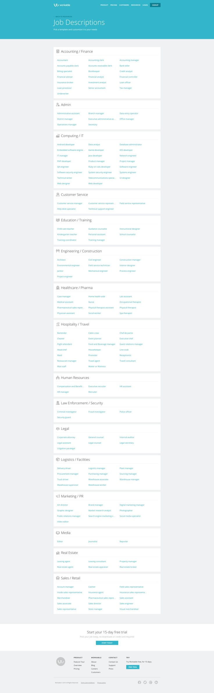 best images about ui careers list behance workable job descriptions