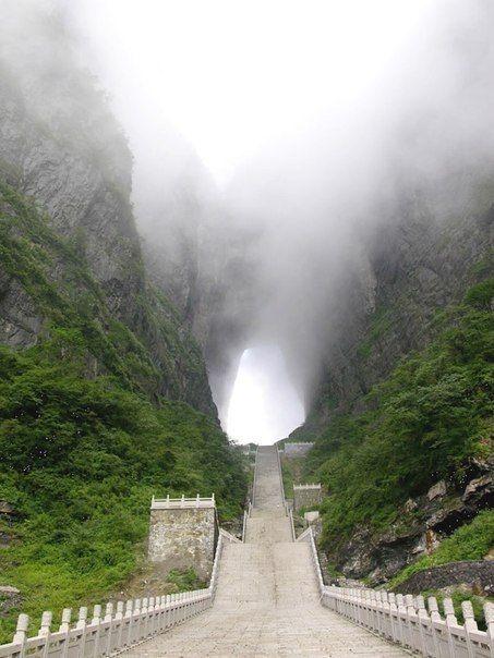 Где находится провинция хунань гора тяньмэнь