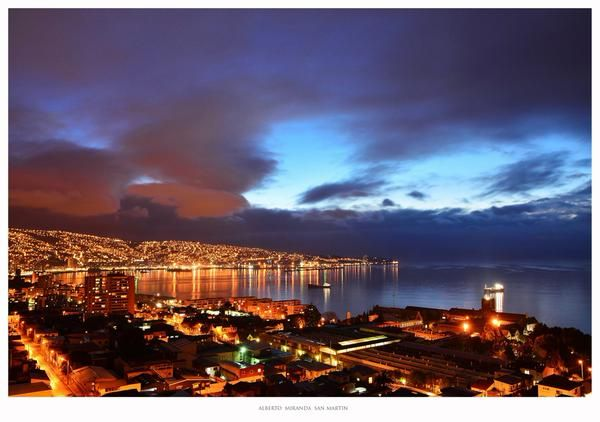 The port of Valparaíso after a rainy day