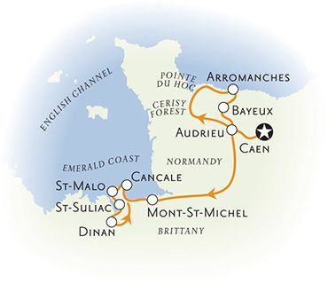 Brittany Normany France Map