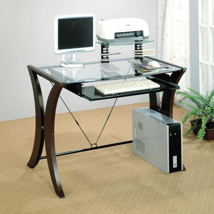 Glass And Wood Computer Desks