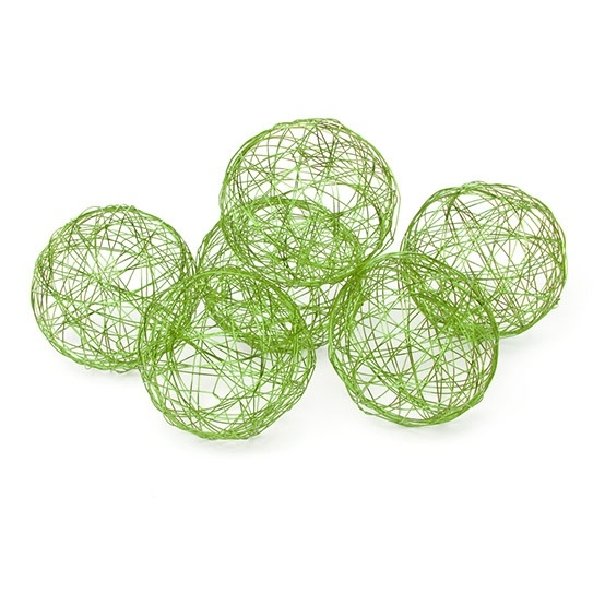 Wire Decorator Balls (available in three sizes) - Green