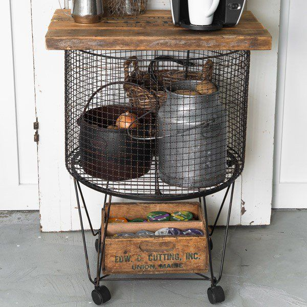 this functional vintage utility cart would make the perfect rolling laundry basket cart rolling shopping