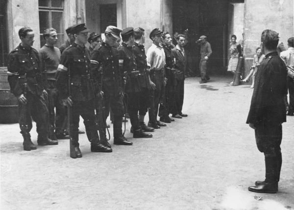 Warsaw uprising. Polish volunteers. 1944.