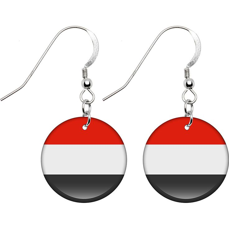 Yemen Flag Earrings