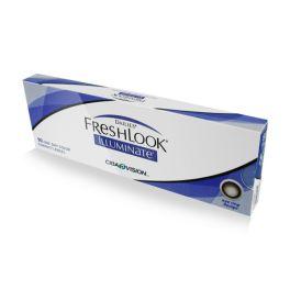 Soczewki kontaktowe DAILIES FreshLook Illuminate wyposażone są w duży okrąg, który po założeniu soczewki umieszczony jest wokół tęczówki, efektownie ją powiększając. Soczewki te wykonane są przy użyciu technologii dwuwarstwowego druku, która umożliwia idealne wpasowanie czerni i brązu w Twój naturalny kolor oczu.