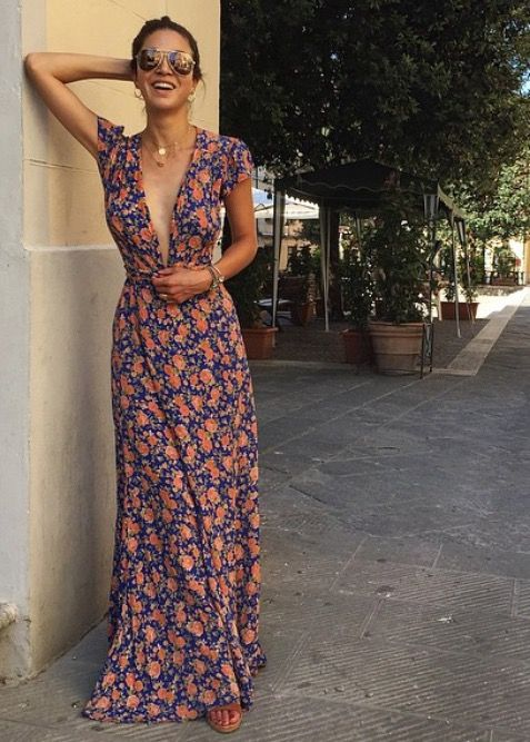 Dress: Tularosa Label - Sid Wrap Dress. Store:  Revolve Clothing or Shopplanetblue.  Model: Negin Mirsalehi