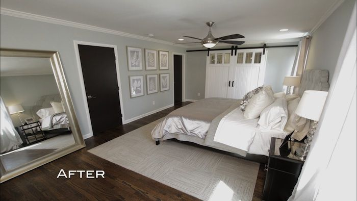 Stephanie and david 39 s master bedroom features the savoy for Brothers bedroom ideas