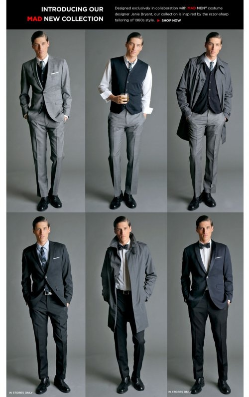 Looks for the most handsome groom, Ben! Madmen Line @Brent Hannah Republic