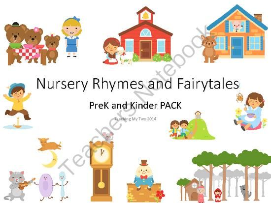 Nursery Rhyme and Fairy Tale PreK and Kinder PACK 361 PAGES  sc 1 st  Pinterest & 85 best Nursery Rhymes  Fables and Fairy Tales images on Pinterest ...