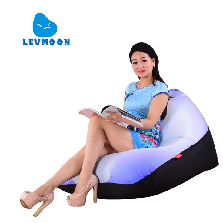 ==> [Free Shipping] Buy Best LEVMOON Beanbag Sofa Chair White Seat zac Shell Comfort Bean Bag Bed Cover Without Filler Cotton Indoor Beanbag Lounge Chair Online with LOWEST Price | 32681054005