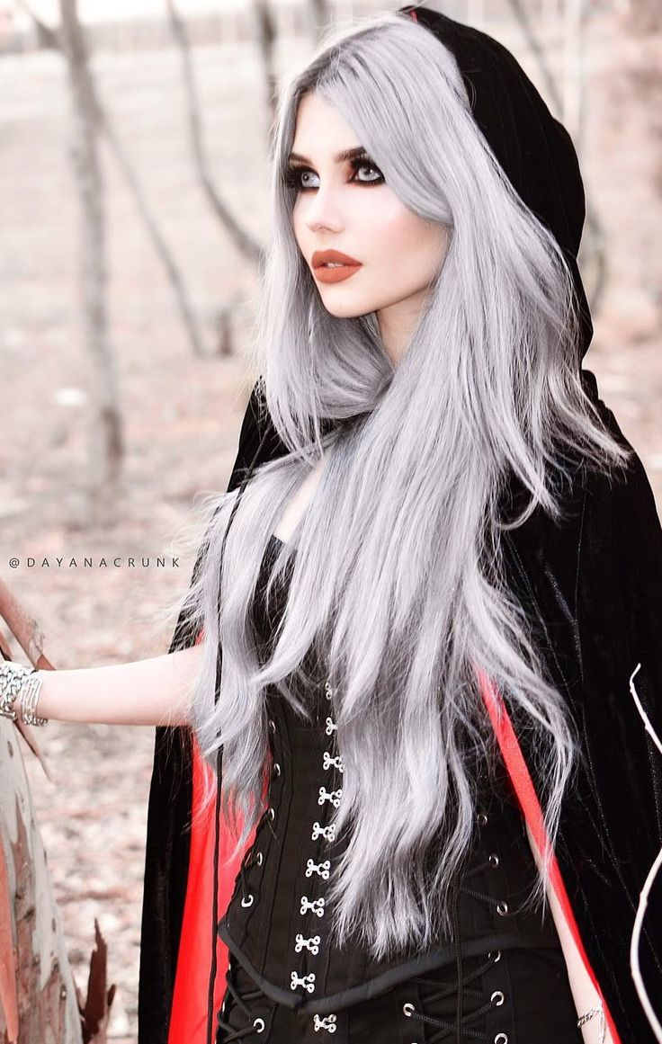 gothic hairstyles long hair fade