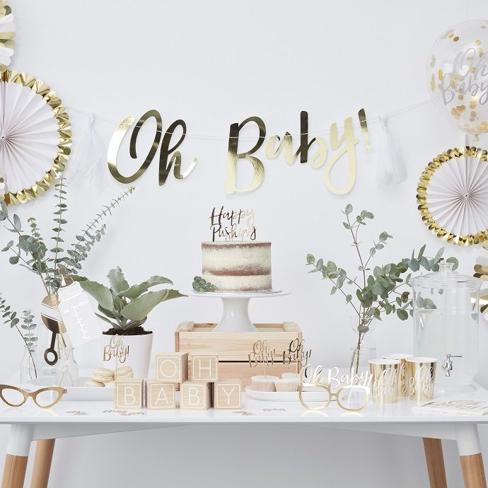 Our Oh Baby range of baby shower supplies are perfect for mixing and matching! Choose from white, gold, pastel pink and pastel blue baby shower decorations to mix and match to create your perfect baby shower theme! Pick up this range at partydelights.co.uk.