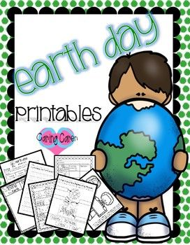 I am SUPER excited to share with everyone 9 pages of PRINTABLE worksheets all about Earth Day!! It is one of my favorite days of the year, so I had a great time making them! This packet includes: - Earth Day word sort! - Earth Day writing prompt! - Coloring page (for students to first write what they will do TODAY to make a difference in the world - have them color and cut out - then display around your room for all to see!)! - 2 fun Earth Day math sheets - including addition and…