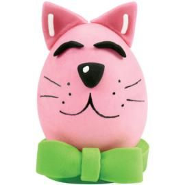 Comical Cat Easter Egg. Who can resist this smiling little feline? Kids will just love making this kitty. Use fine tip FoodWriter® Edible Color Markers to make facial features.