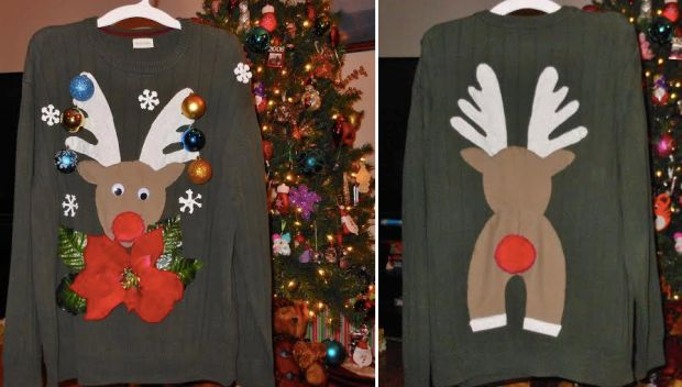 Happy Friday: Homemade Ugly Christmas Sweater – Hip2Save