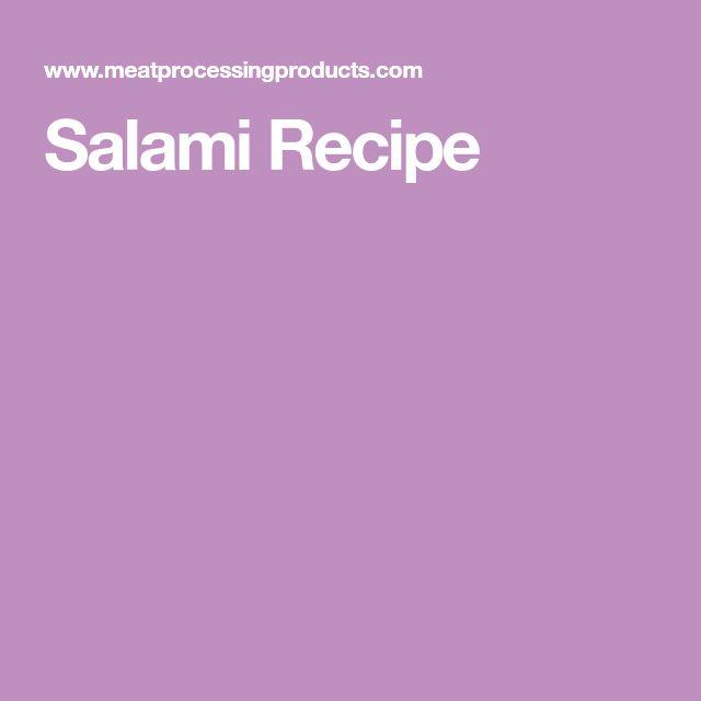 Salami Recipe