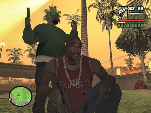 Tupac sighting in Grand Theft Auto San Andreas