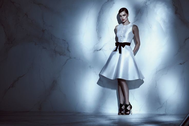 white belted flare dress
