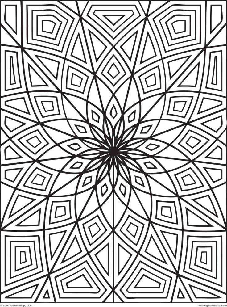 24 best Mandala images on Pinterest | Abstract coloring pages ...