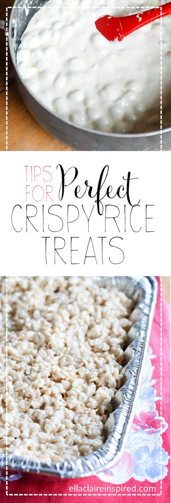 Tips for Perfect Rice Krispie Treats with a delicious Recipe Included from Ella Claire