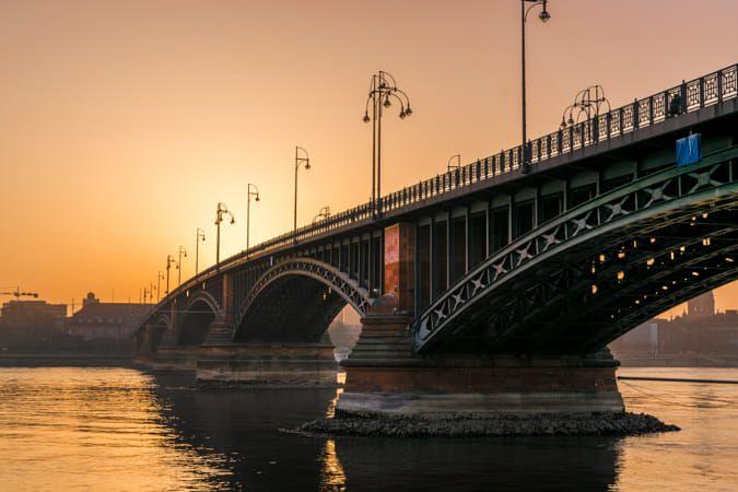 Brucke Bridge Rhein Main Gebiet Wiesbaden Und Stadt