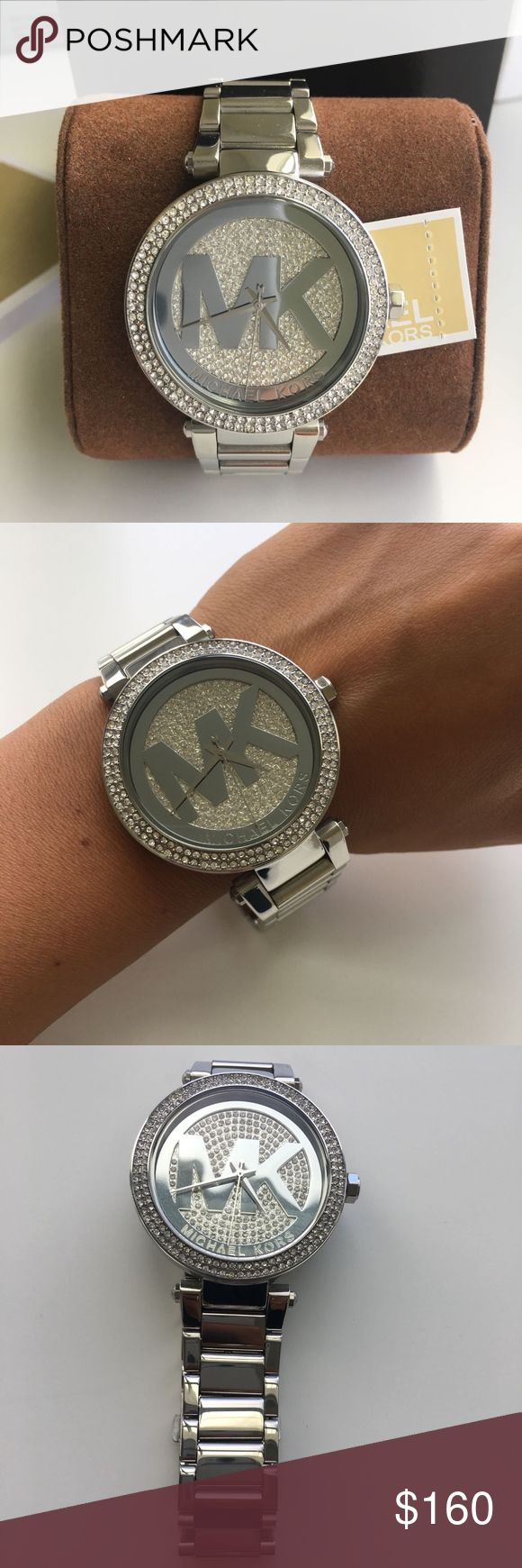 BRAND NEW Michael Kors Silver Ladies Watch MK5925 NEW MICHAEL KORS IN THE ORIGINAL BOX WITH TAG.  Parker Silver Crystal Pave Dial tainless Steel Ladies Watch MK5925. Case Size : 39mm Michael Kors Accessories Watches