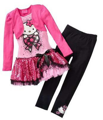 Now available on our store: Hello Kitty Child... Check it out here! http://villainsmart.com/products/hello-kitty-childrens-clothing-set-shirt-and-pants