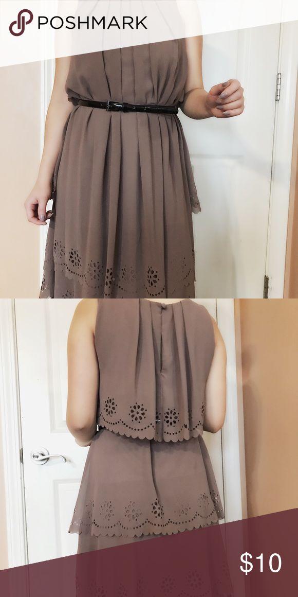 Von Maur size 2 tan dress Size 2 worn von maur dress Jessica Simpson Dresses