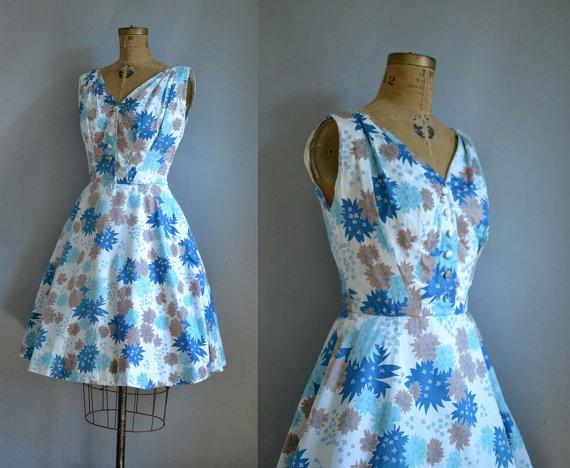 50s Cotton Dress / Carolyn Schnurer